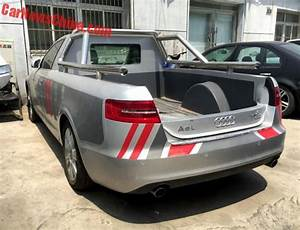 Pick Up Audi : one off audi a6l pickup truck spotted in china motoroids ~ Melissatoandfro.com Idées de Décoration