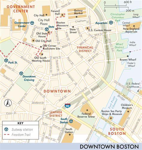 map  downtown boston girls trip  downtown boston