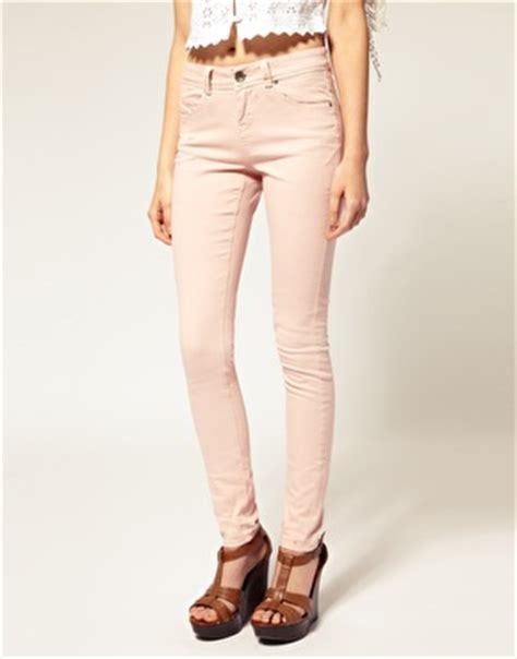 light pink skinny jeans pink asos light pink skinny jeans at asos