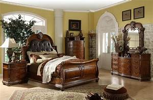Mollai Collection 7PC Bedroom Set With Padded Leather