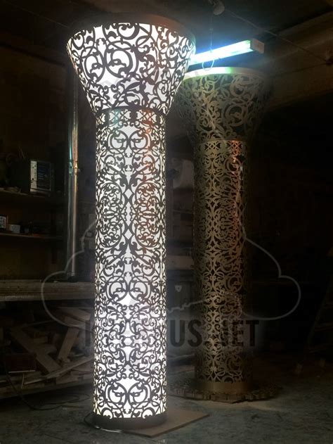 light columns decor metal lasercut decor