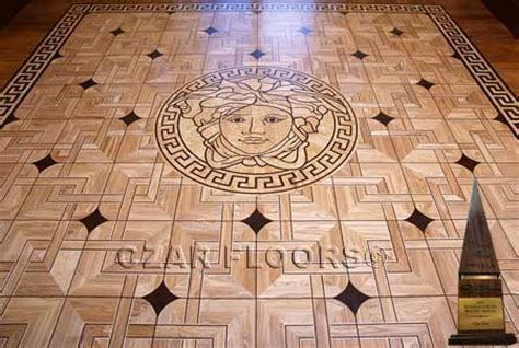 Wood Floor Medallions, Inlays, Wood borders and Parquet