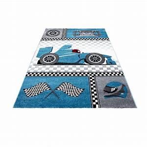 Tapis Enfant Pas Cher : tapis pour chambre de gar on blue et gris speed voiture f1 ~ Dailycaller-alerts.com Idées de Décoration