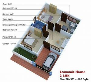600 sq ft house plans 2 bedroom apartment plans for Best house architecture for 600 square feet