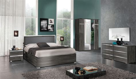 italy leather contemporary platform bedroom sets