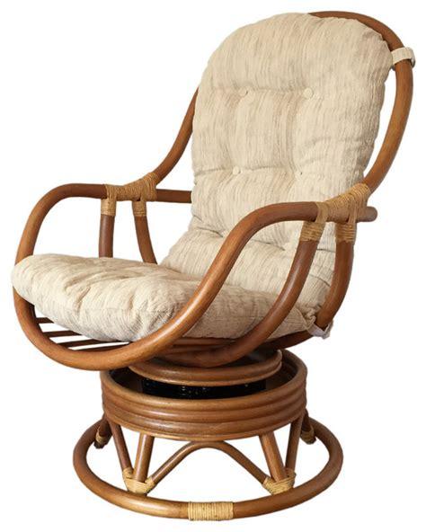 rattan swivel rocking chair erick tropical rocking