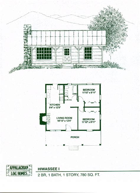 1 room cabin plans hiwassee i 2 bed 1 bath 1 story 780 sq ft