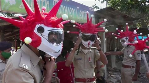 Police in India reveal device to detain coronavirus