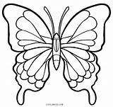 Butterfly Coloring Pages Simple Wings Printable Print Getcolorings Col sketch template