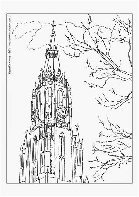 Kleurplaat Kerk by Nieuwe Kerk Delft Kleurplaat Zoeken Arquitetura