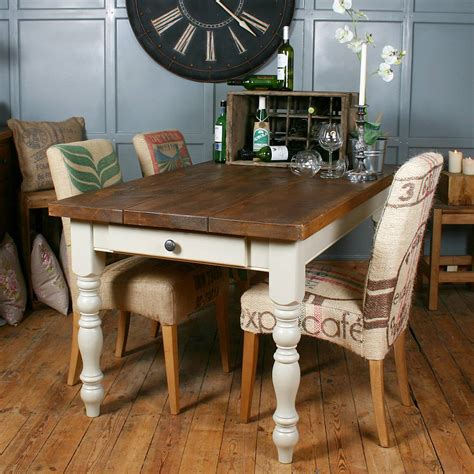 table et chaise a manger solid wood vintage farmhouse table by h f notonthehighstreet com