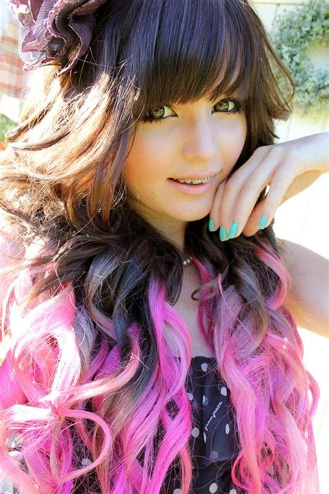Pink Ombre Dip Dyed Hair Colorful Hair Pinterest Dip