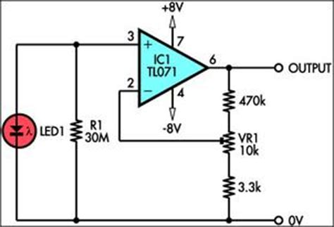 How Build Using Led Light Sensor Circuit Diagram