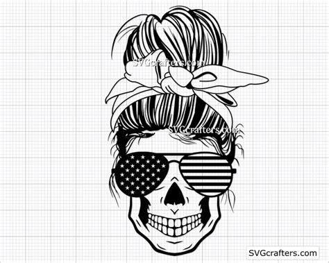 To download your free svg file enter your information below to subscribe to the svgart.org mailing list. American Messy Bun svg, 4th of July svg, us flag svg ...
