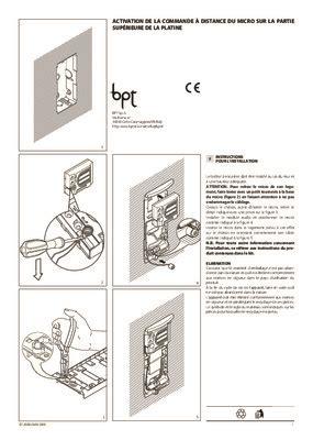 schema de raccordement interphone e 200 bpt pdf notice manuel d utilisation