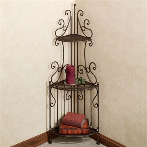 wrought iron etagere carabella wrought iron 3 tier corner etagere
