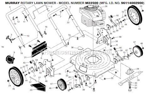 Murray Mower Carburetor Diagram by Murray M22500 96114002900 Parts List And Diagram