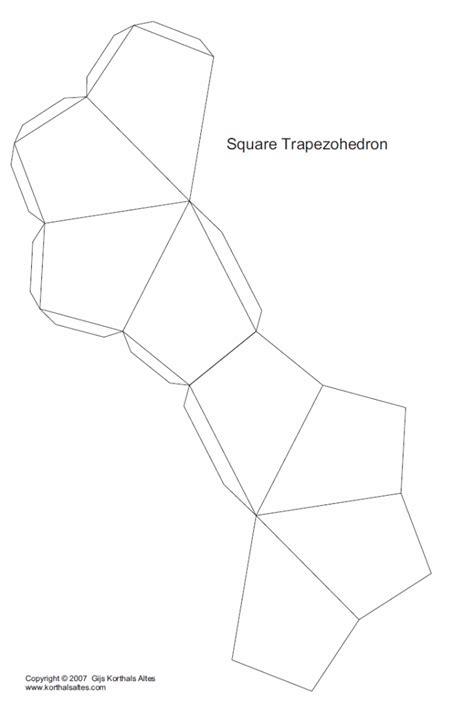 net square trapezohedron crafts pinterest squares