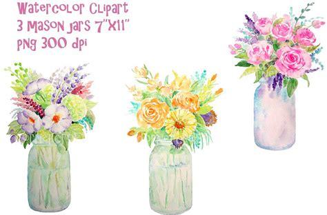 hanging file frame watercolor vase of flowers jar illustrations