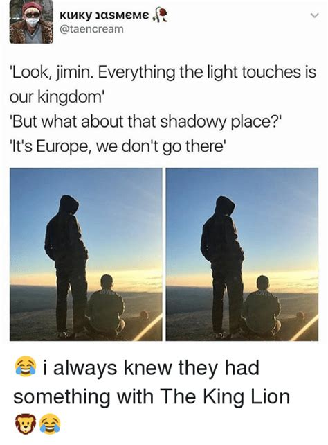 Everything The Light Touches Is Our Kingdom by 25 Best Memes About But What About That Shadowy Place