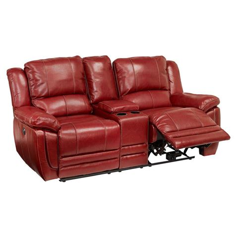 Loveseat Power Recliner by Lombardi Power Reclining Loveseat With Console