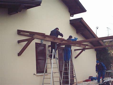 tettoie per porte pensiline in legno per porte e scale tendasol