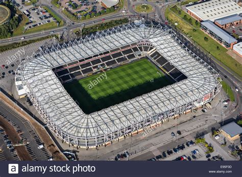 An aerial view of the iPro Stadium, home of Derby County ...