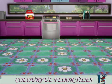 Colorful Floor Tile by Evi S Colourful Floor Tiles