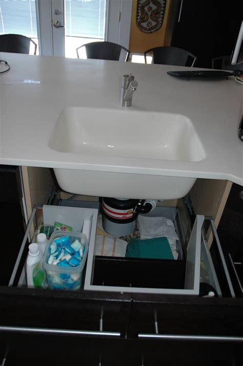 ikea sink cabinet hack sink base with functional drawers ikea hackers ikea