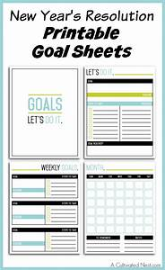 new year39s resolution printable goal sheets With new years goals template