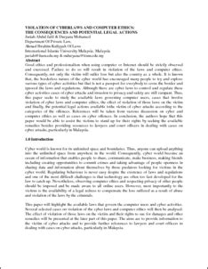 Research paper on computer ethics - dissertationideas.x