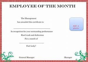 employee of month certificate template driverlayer With employee of the month certificate template with picture