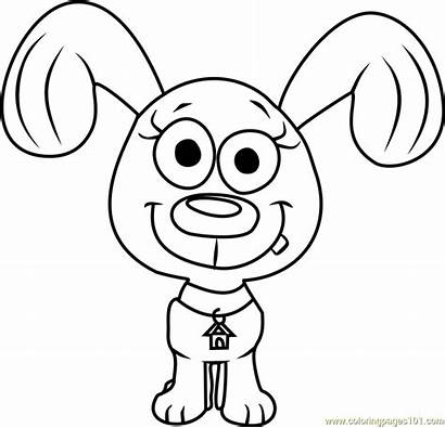 Pound Puppies Coloring Rebound Pages Cartoon Coloringpages101