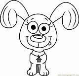 Pound Puppies Coloring Rebound Pages Puppy Cartoon Coloringpages101 sketch template