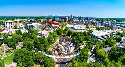 Greenville Carolina South Downtown Sc Aerial Founder