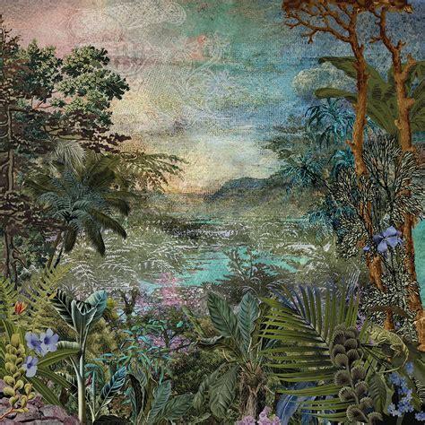 Hx5 044 Vintage Jungle Wall Mural By Komar