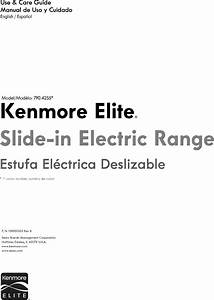 Kenmore Elite 79042553311 User Manual Electric Range