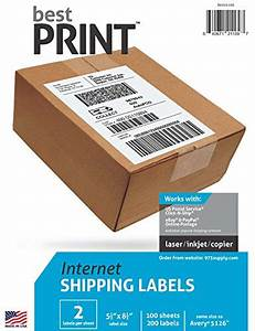 1000 half sheet best print shipping labels 5 1 2 x 8 same for Half page shipping labels