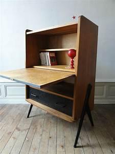 Bureau Secretaire Vintage : secretaire vintage annees 50 vintage moi ~ Teatrodelosmanantiales.com Idées de Décoration