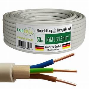 Kabel Nym 3x1 5 : 50m nym j 3x1 5 mm mantelleitung elektro strom kabel ofc made in germany ebay ~ Pilothousefishingboats.com Haus und Dekorationen