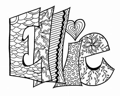 Coloring Pages Printable Personalized Easy Sheets Adults