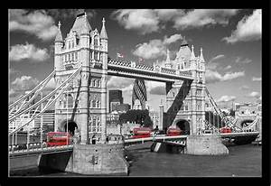 Schwarz Weiß Bilder Mit Farbe Städte : london westminster bridge busses poster 91 5x61 ~ Orissabook.com Haus und Dekorationen