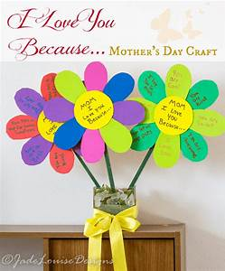I love you Because Mothers Day Craft flowers for Kids to ...
