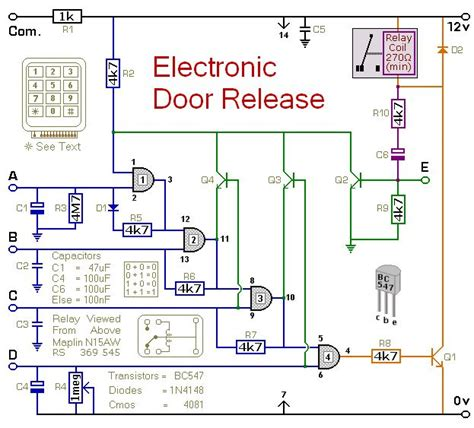 Circuit Diagram For Keypad Operated Door Release Switch