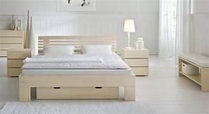 Bett 200x220 Weiß : stilvolles massivholzbett aus buche white romance ~ Indierocktalk.com Haus und Dekorationen