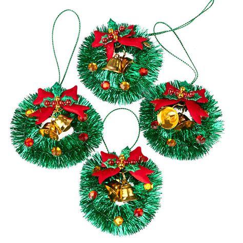 miniature tinsel christmas wreath ornaments christmas