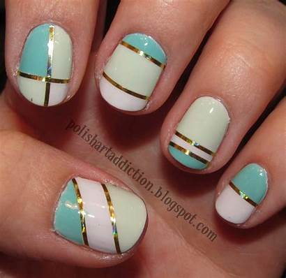 Tape Nail Designs Easy Scotch Using Very