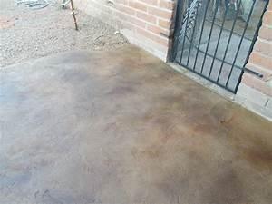 Tucson concrete patio decorative concrete flooring for Stained concrete patio designs
