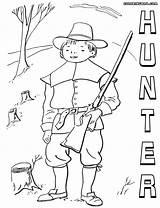 Hunter Coloring Hunter4 sketch template