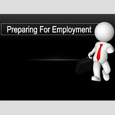 Preparing For Employment